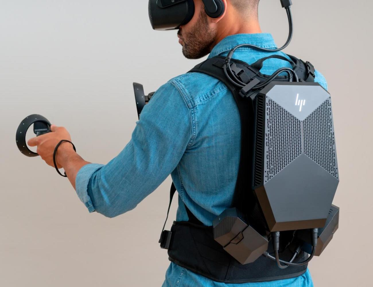 HP VR Backpack G2 Free-Roam Wearable PC provides faster graphics for your virtual world