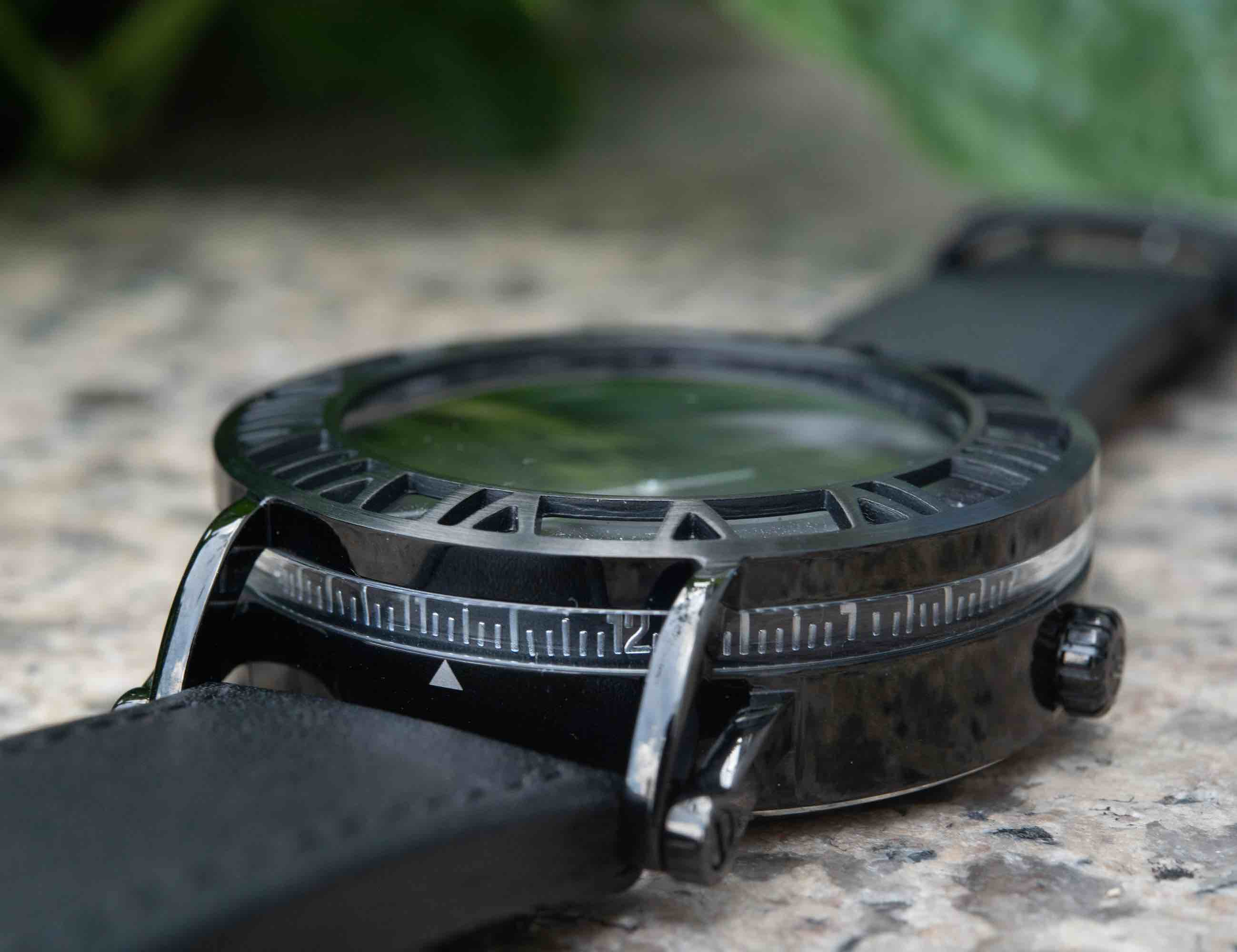 Horizon Timepiece Stealth Automatic Watch discreetly tells you the time