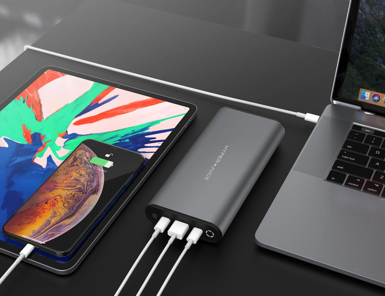 HyperJuice 130W USB-C Airline-Safe Battery Pack gives you an option to quickly charge up