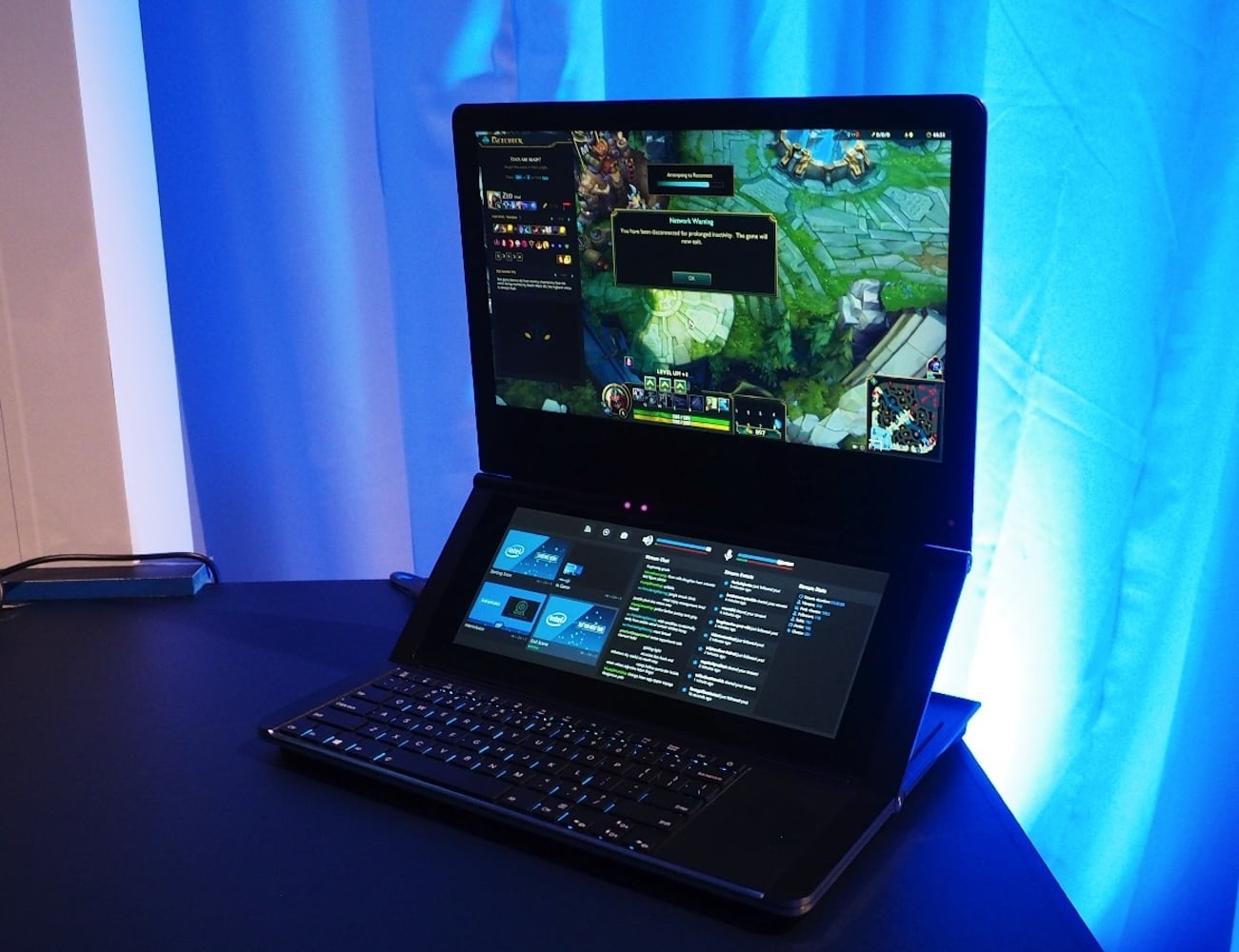 """Intel Honeycomb Glacier Hinged Dual-Screen <em class=""""algolia-search-highlight"""">Laptop</em> lets you choose your display location"""
