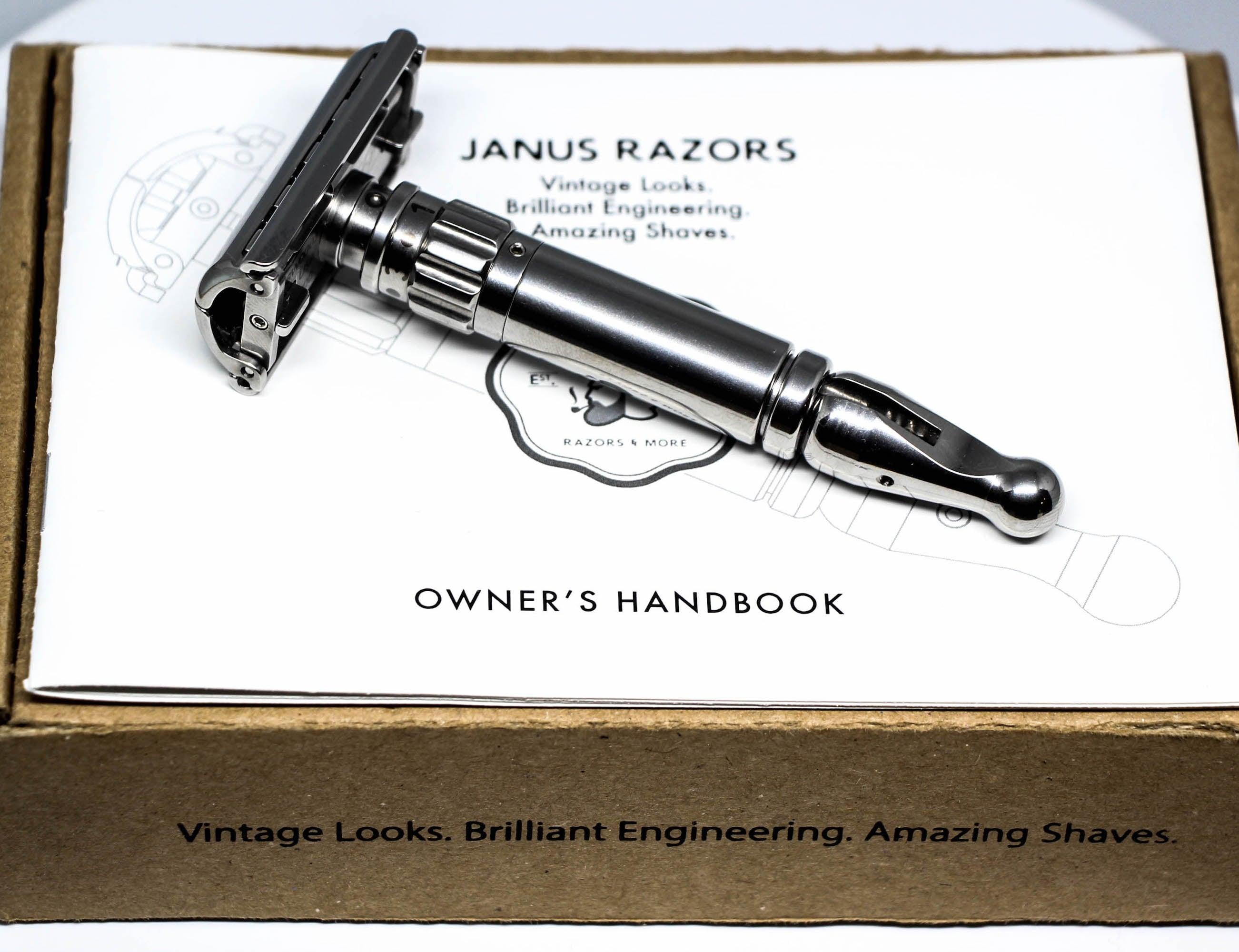 Janus Razor Modern Adjustable Safety Razor lets you customize your shave