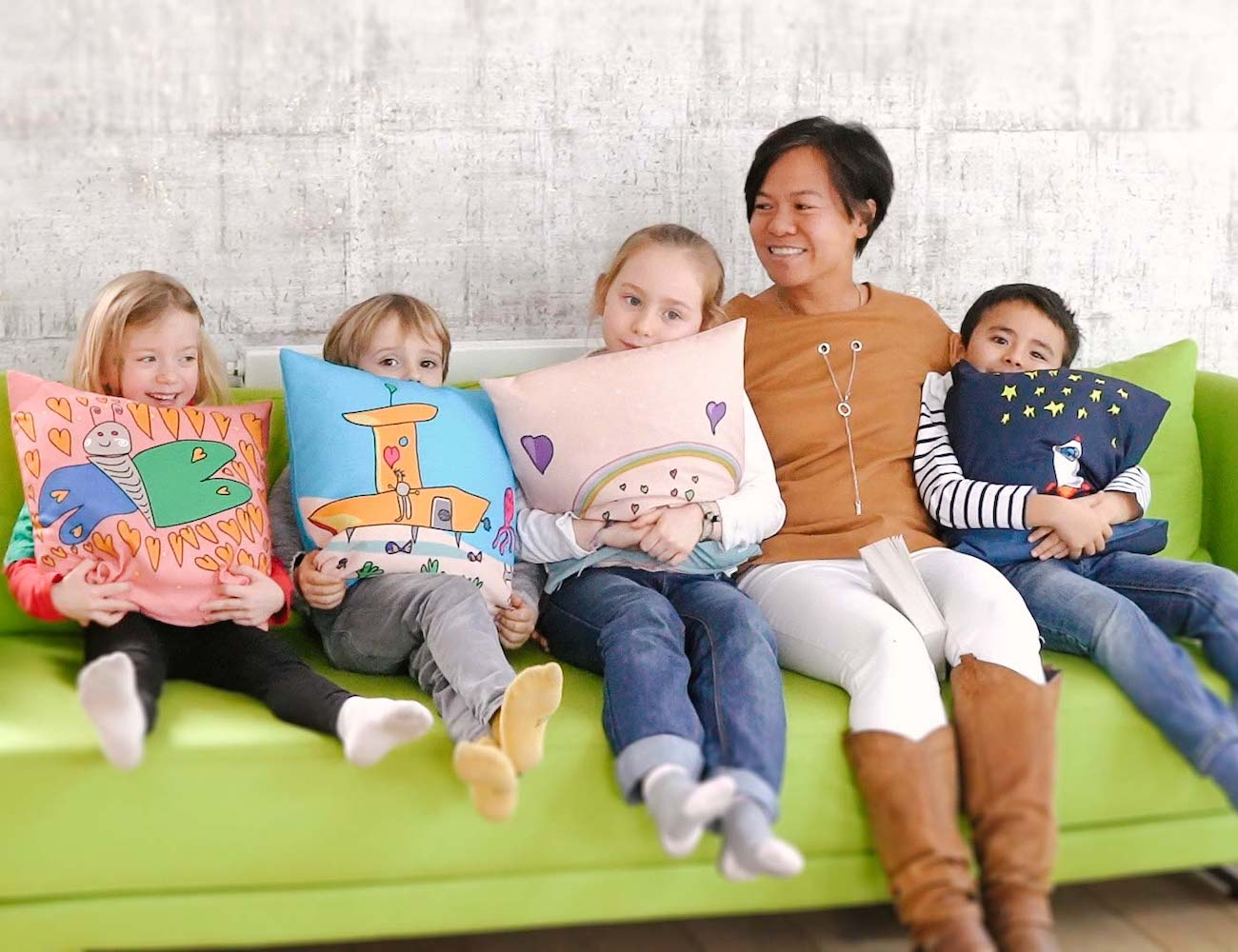 KiddyArts Handmade Customized Kids' Art Pillows make your child's art into a pillow