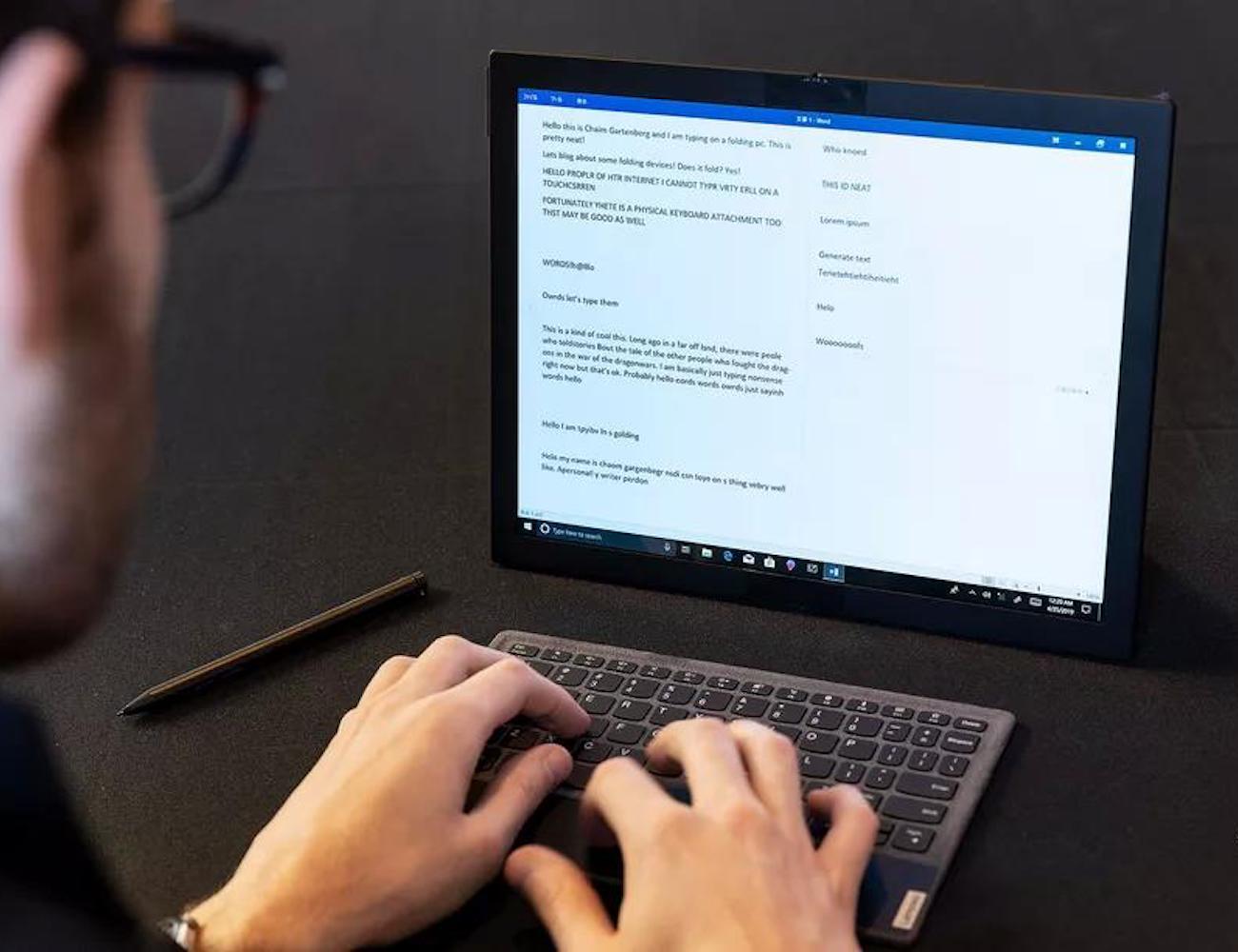 Lenovo Folding ThinkPad will be the ultimate portable PC