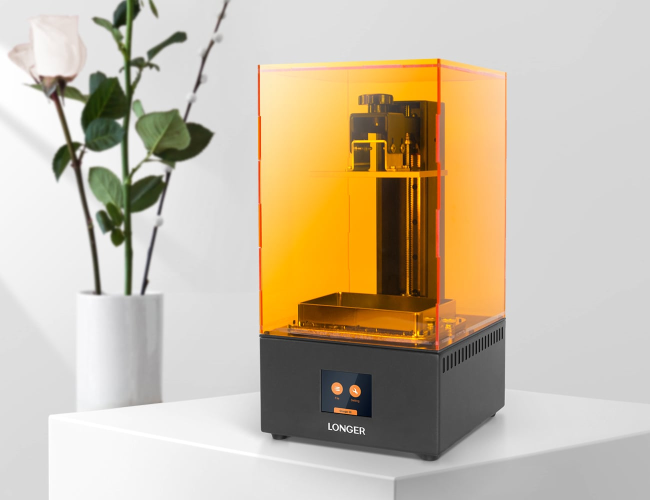 Longer Orange 30 LCD SLA 3D Printer is an affordable way to create models