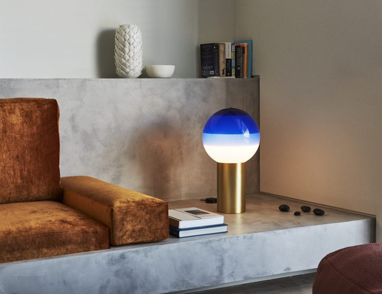 Marset Multicolored Paint-Dipped Lamp creates eye-catching ambiance