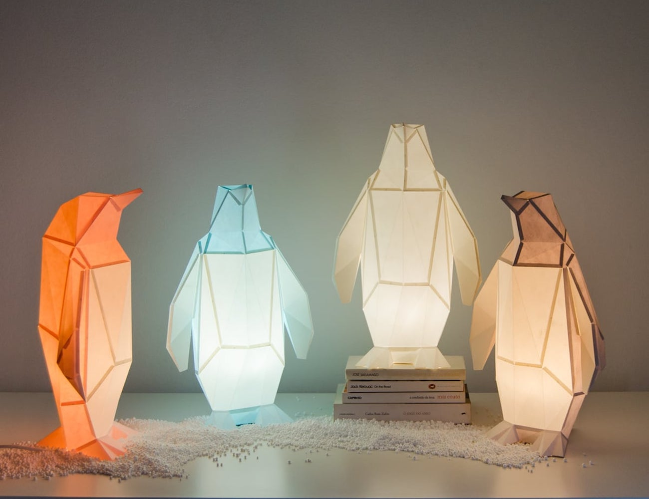 Owl Paper Small Paper Penguin Lamp is an adorable piece of bedroom decoration