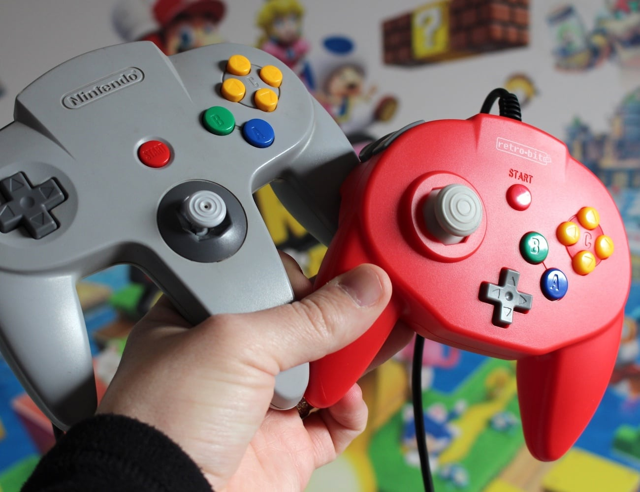Retro-Bit Tribute64 Modern N64 Controller is a redesign of the classic video game controller