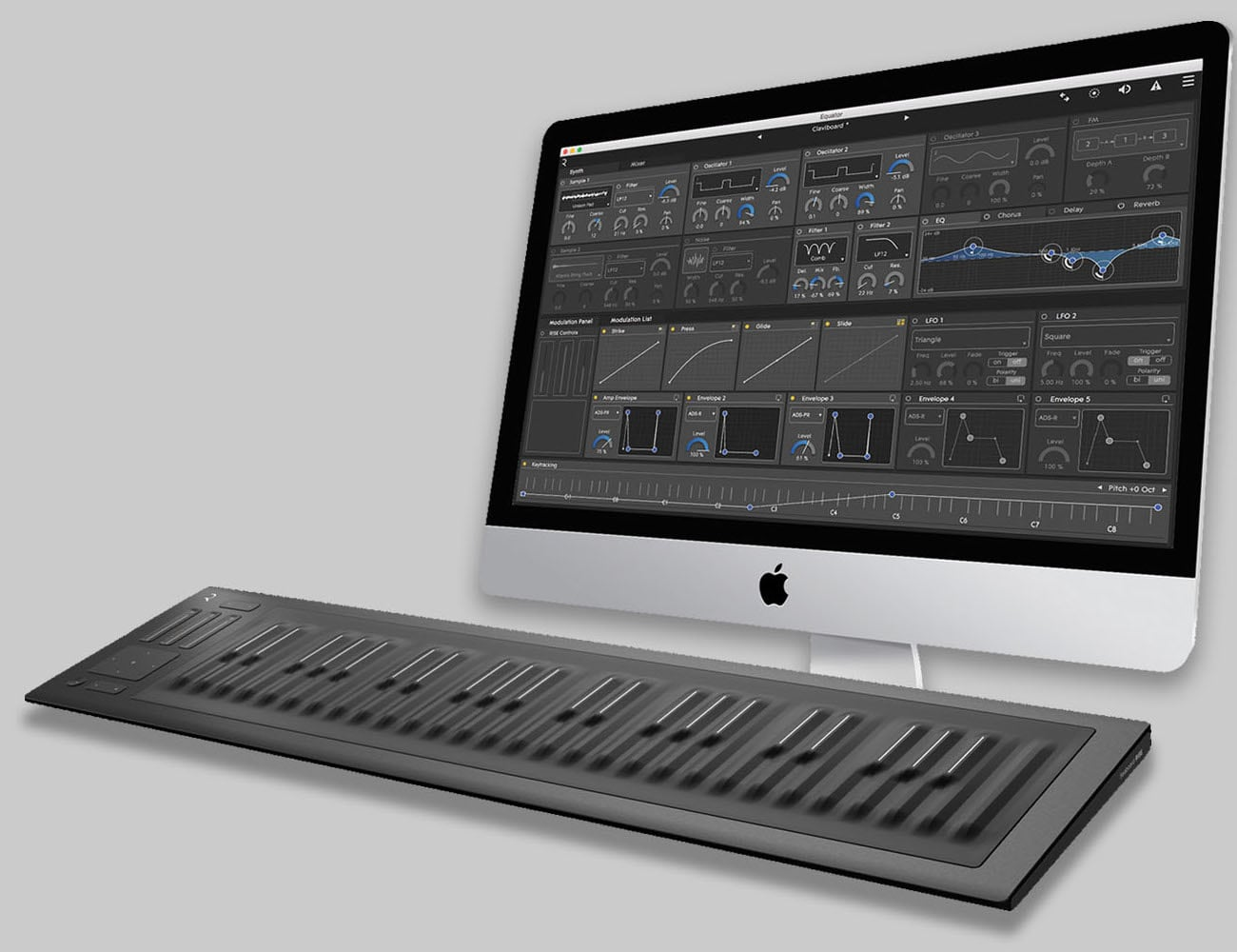 this beautiful 49 key midi keyboard is perfect for your home studio. Black Bedroom Furniture Sets. Home Design Ideas