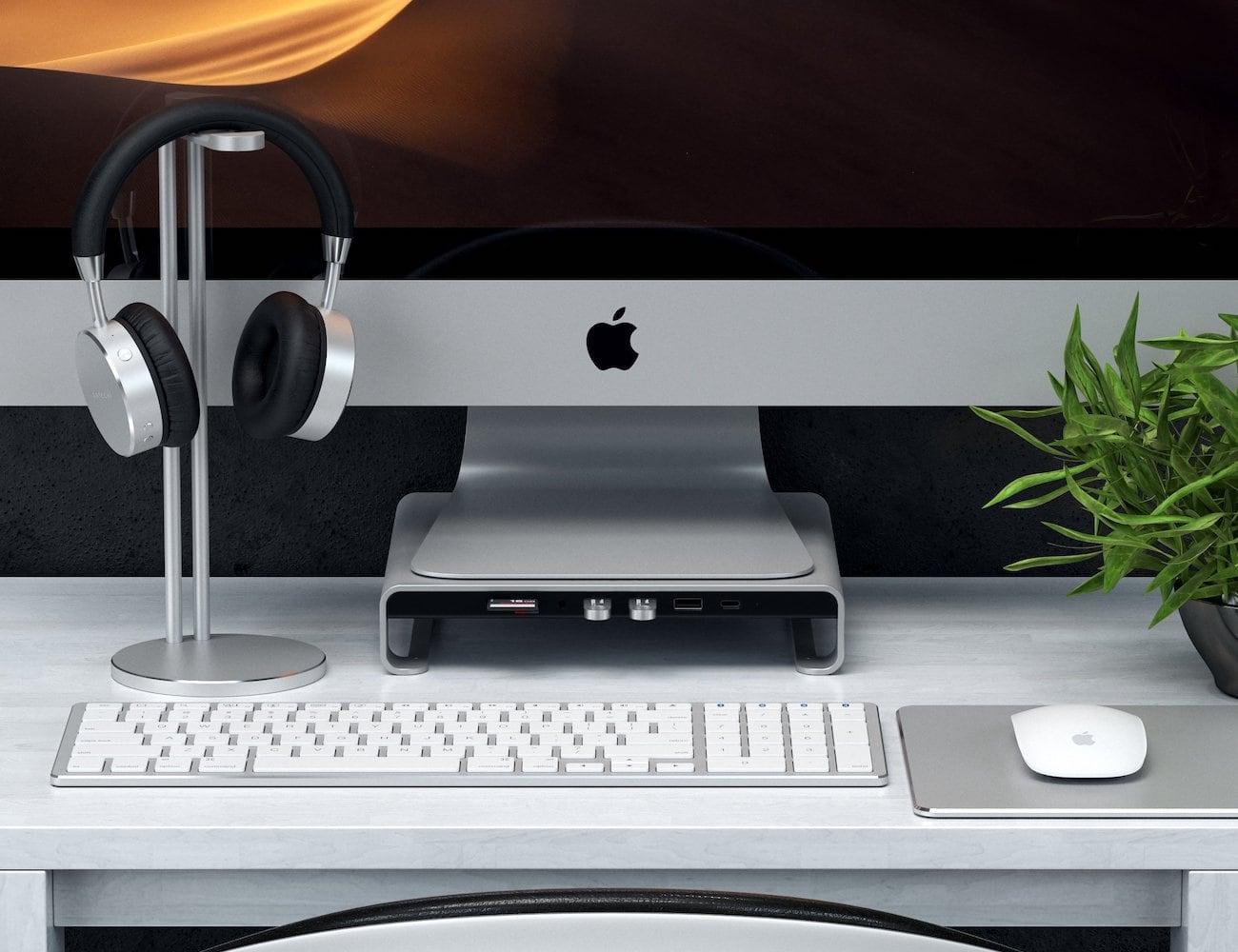 Satechi Type-C Aluminum iMac Monitor Stand Hub
