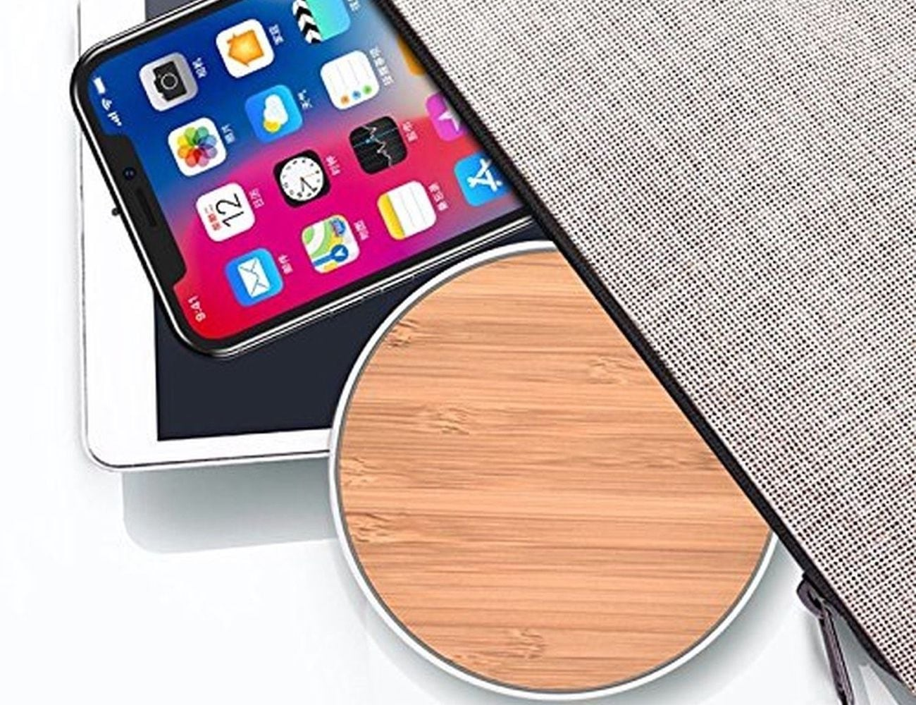SurgeDisk Wireless Qi Charging Pad is a comforting bedside charger