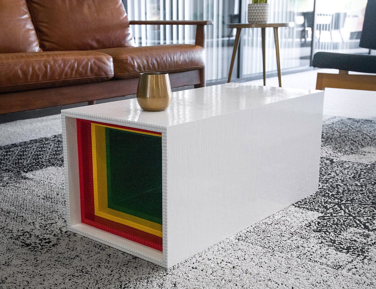 Yusong Zhang Lego Coffee Table is the most intricate Lego sculpture on the market