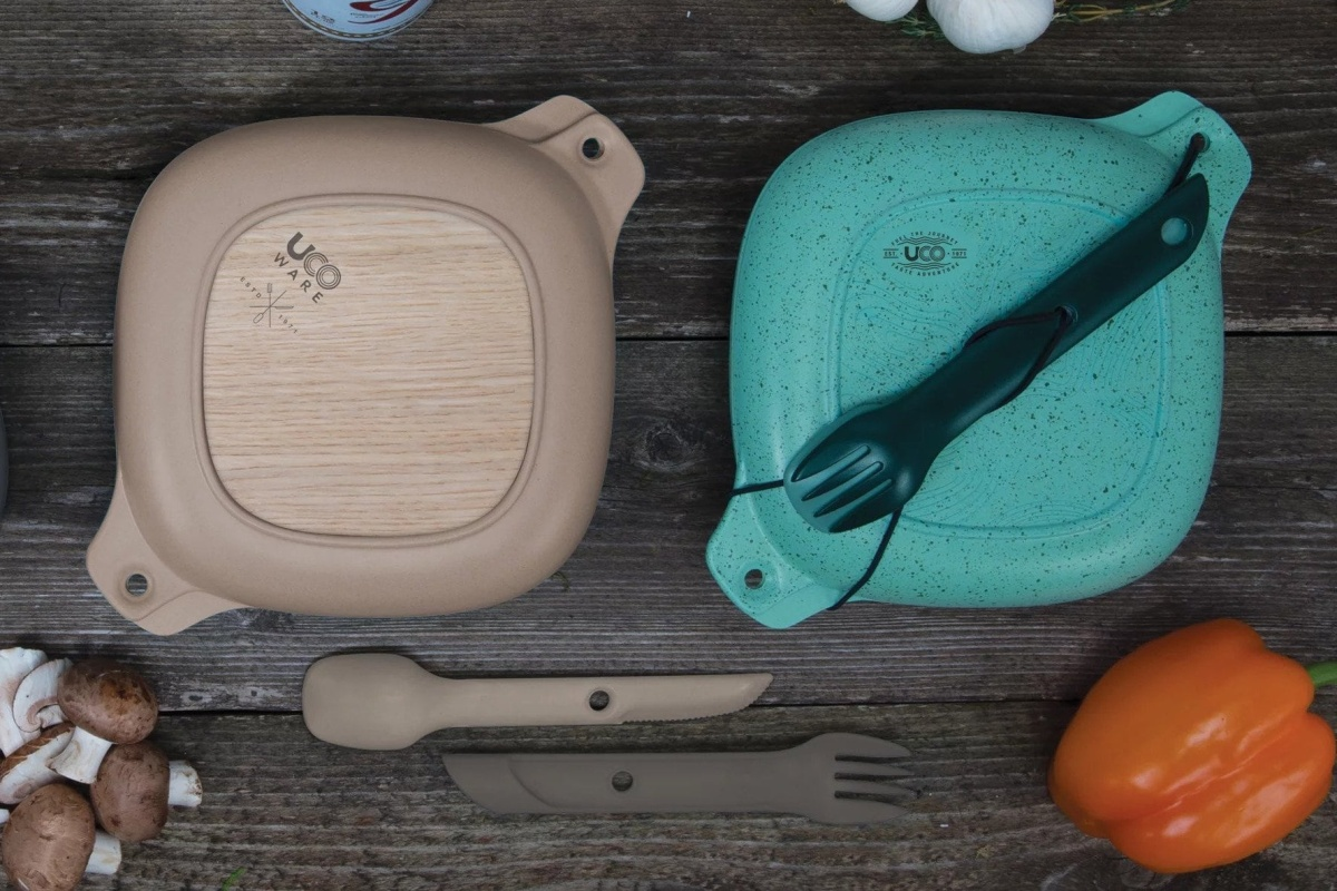 UCO's bamboo 5-piece kit mess kit that every traveler should own