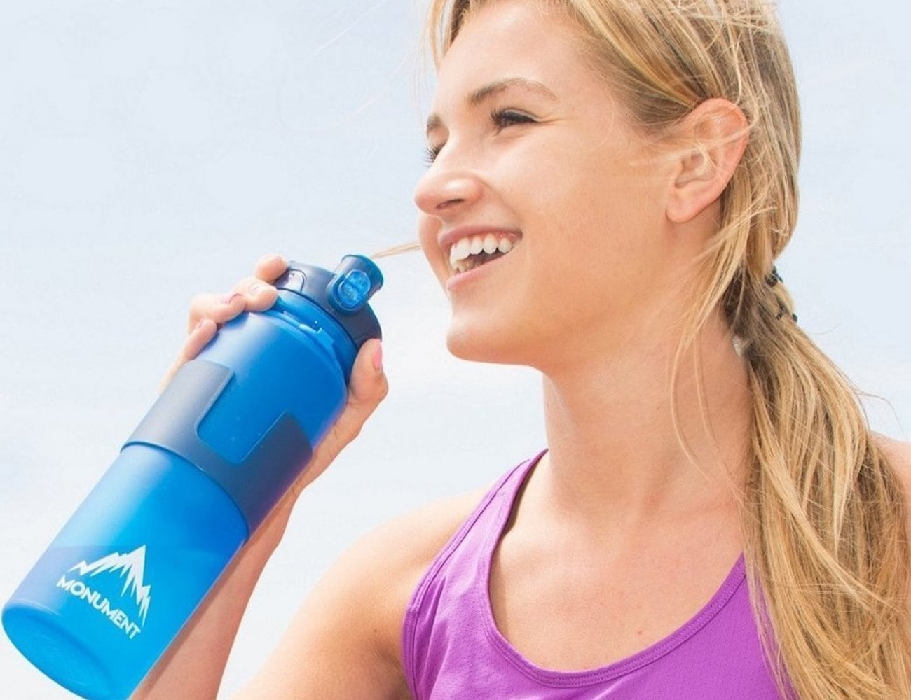 Monument Collapsible Water Bottle is an easily storable thirst quencher