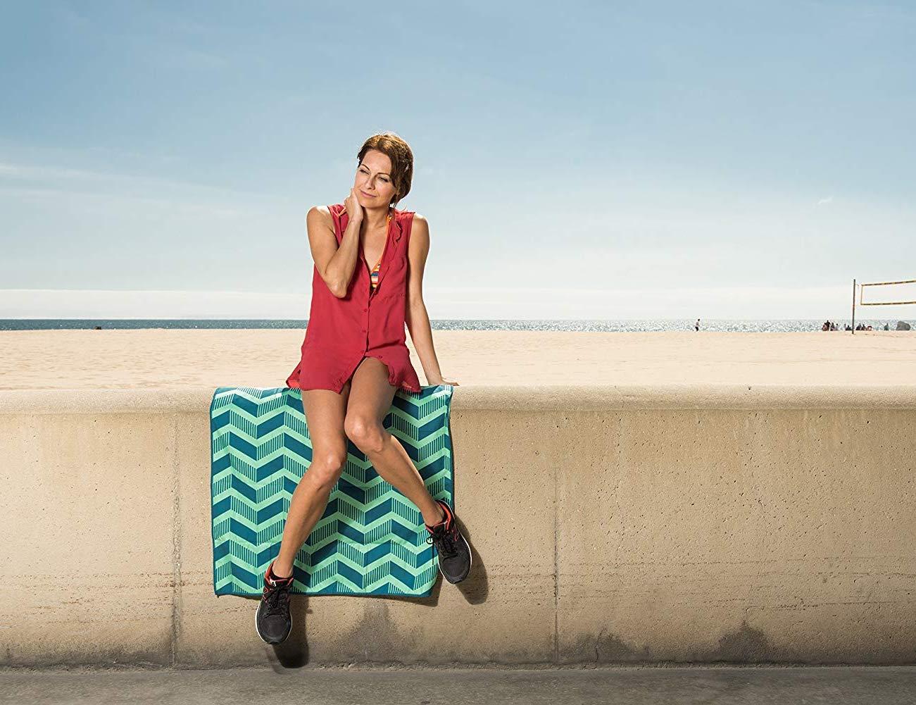 Acteon Compact Antibacterial Microfiber Towel is a beachgoer's best friend