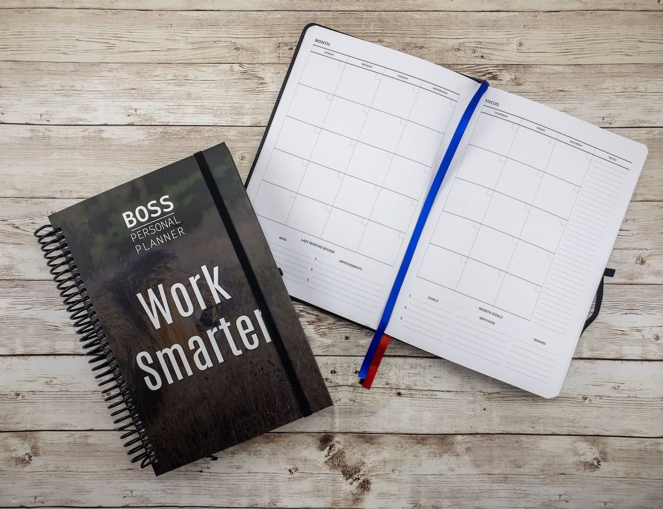 BOSS Personal Planner Personal Productivity Notebook keeps your goals in focus