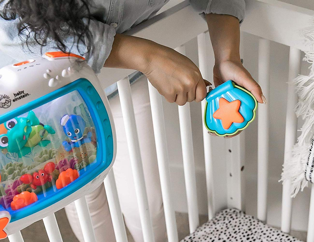 Baby Einstein Sea Dreams Soother Calming Crib Toy helps your baby sleep well