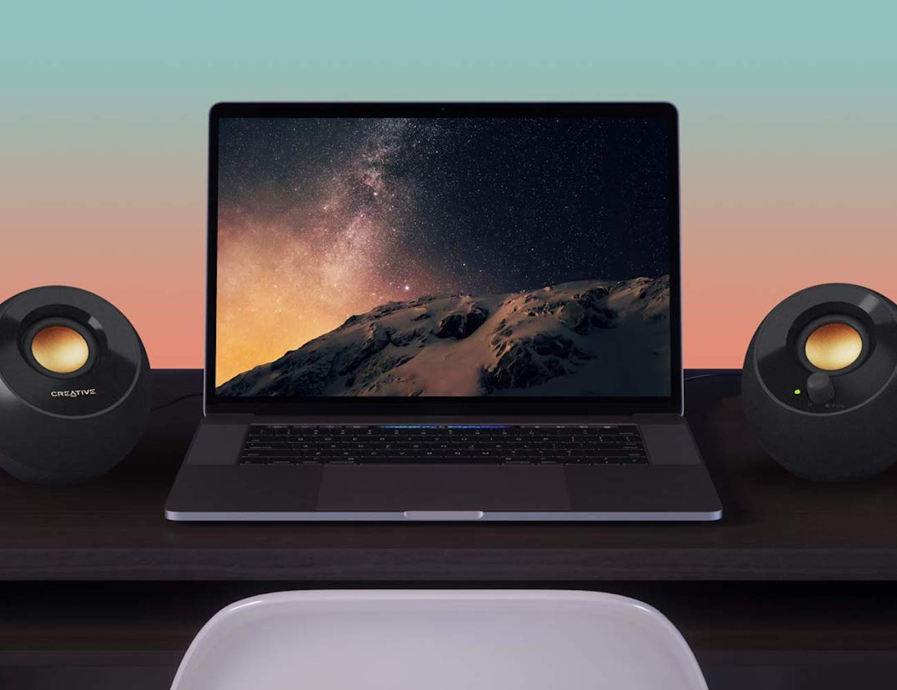 Creative Pebble Plus USB-Connected Desktop Speakers give you extra bass from their subwoofer