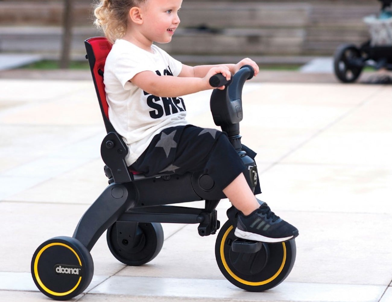 Doona Liki Trike S3 Folding Push Tricycle is compact enough for you to carry around