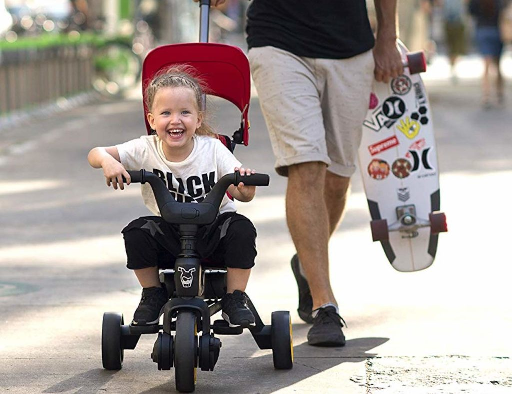 Doona+Liki+Trike+S3+Folding+Push+Tricycle+is+compact+enough+for+you+to+carry+around
