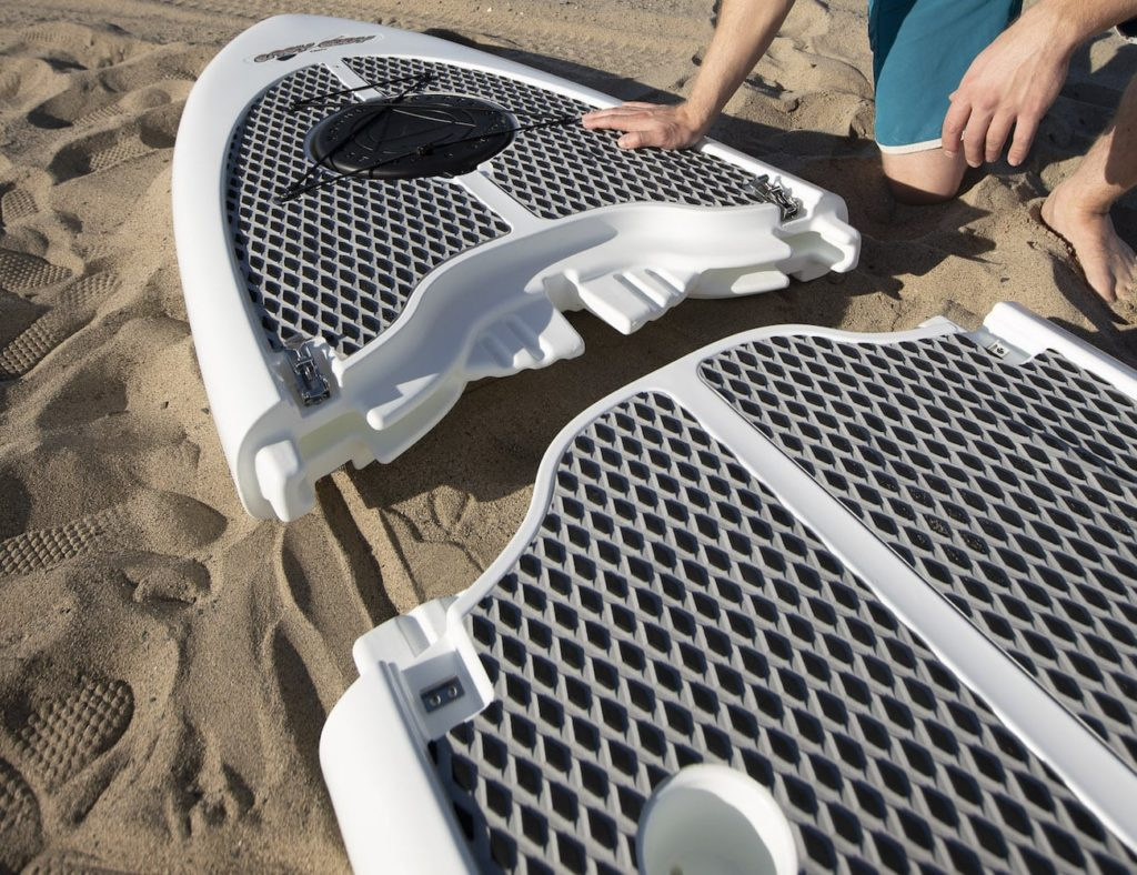 Easy+Eddy+Three-Piece+Modular+Paddle+Board+easily+fits+in+your+vehicle