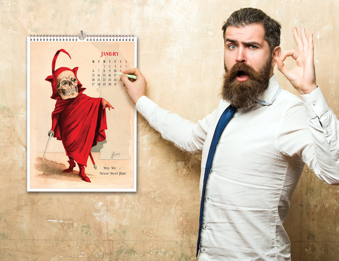 Funny Bones 19th-Century Restored Calendars will add a unique touch to your living space