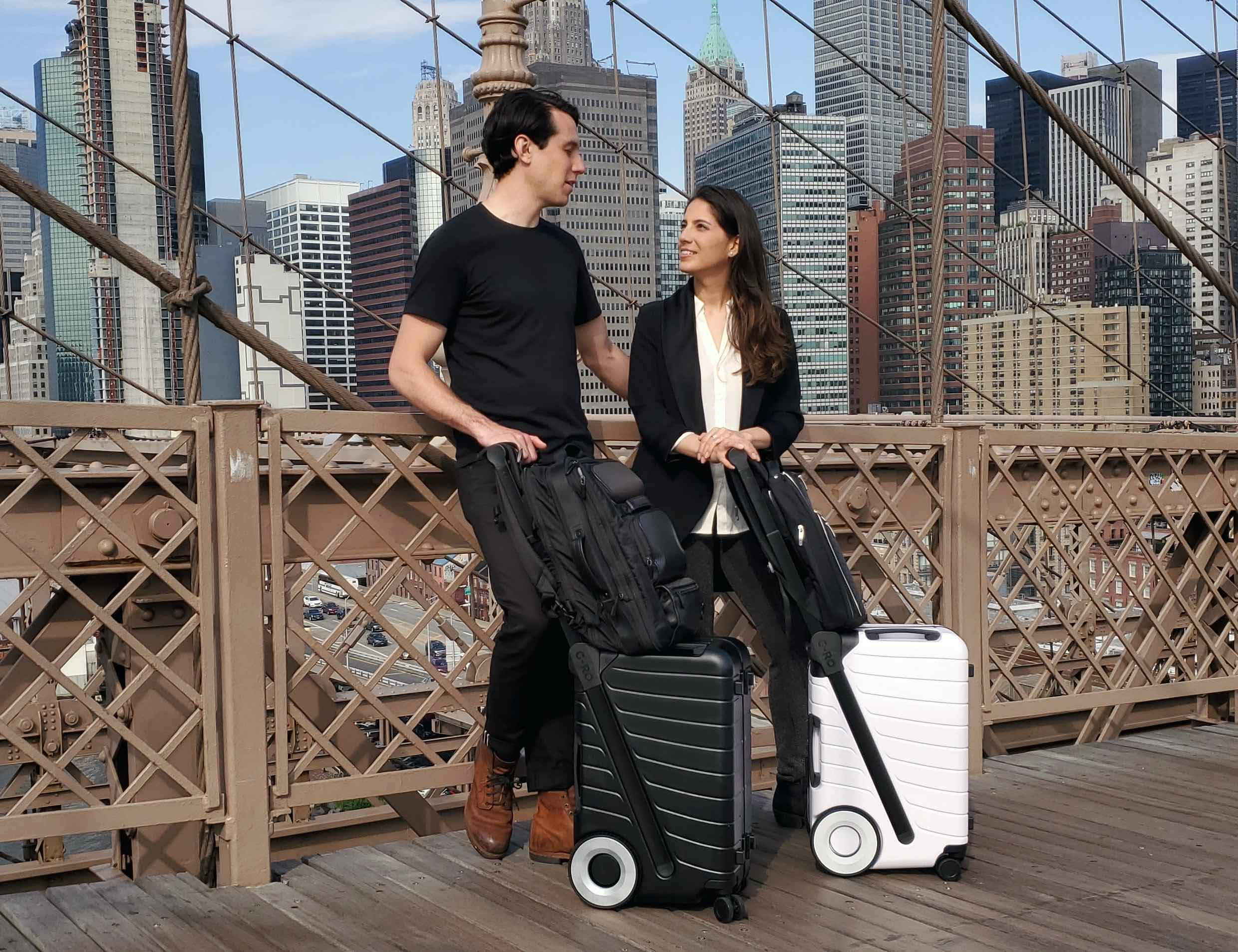 G-RO SIX Effortless Spinner Luggage makes light of any load