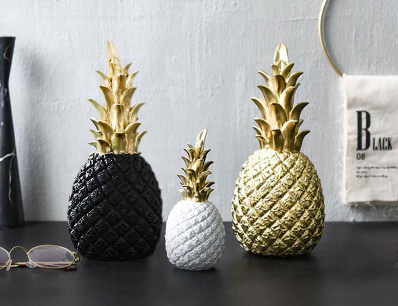 Golden Pineapple Display Prop offers an inviting welcome