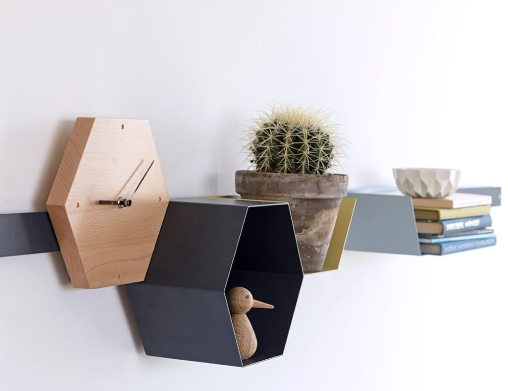 Hans+Thyge+and+Co+Hexagonal+Modular+Shelving+Unit+is+a+creative+storage+solution