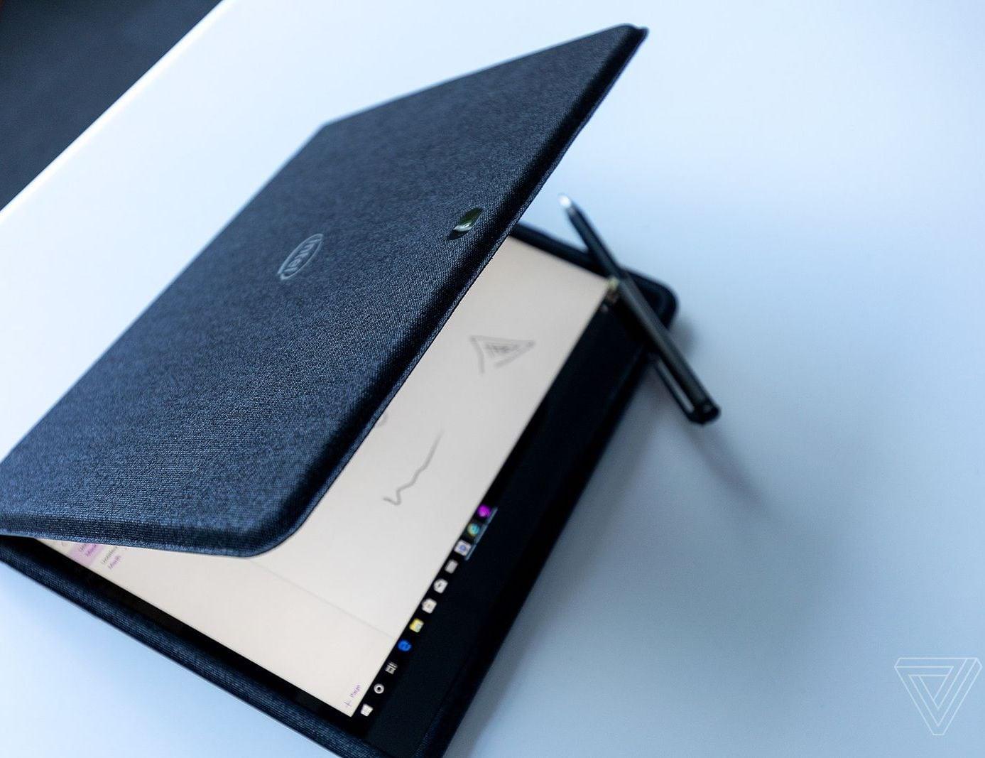 Intel Twin River Dual-Screen Fabric Laptop