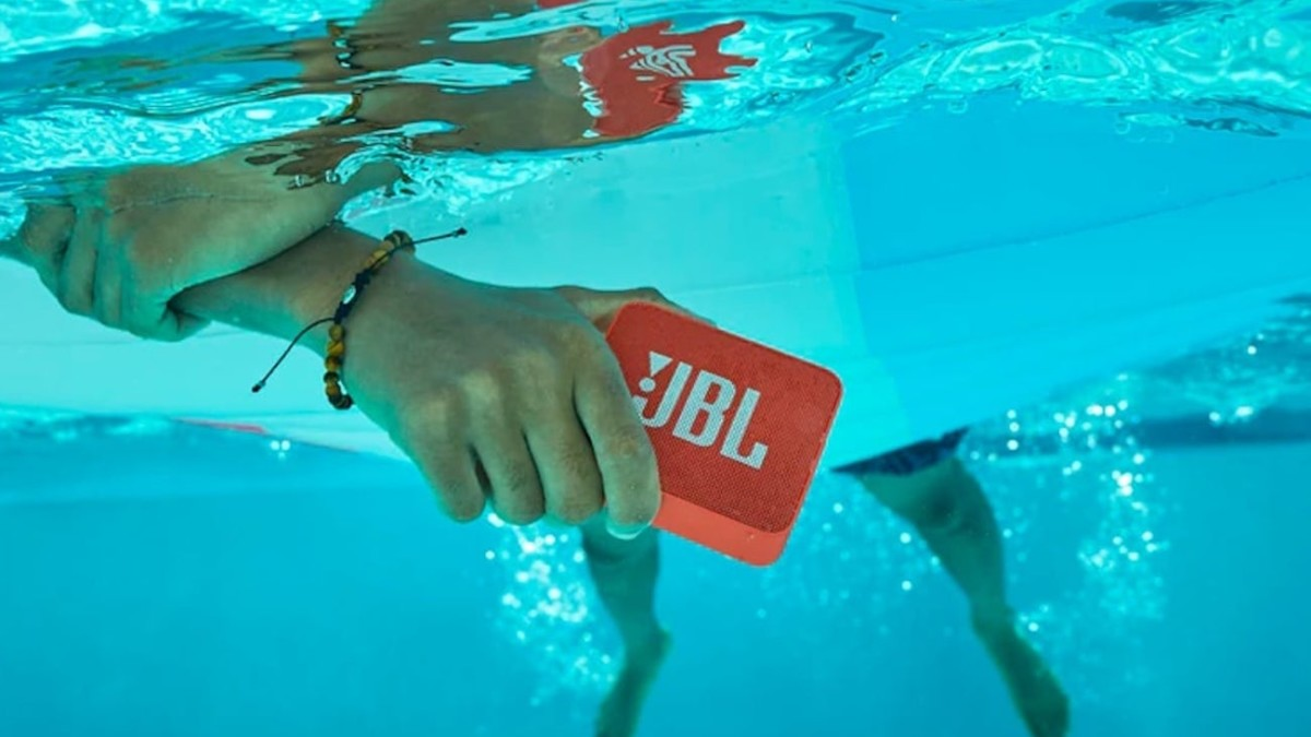 JBL GO 2 Waterproof Portable Bluetooth Speaker plays your music anywhere