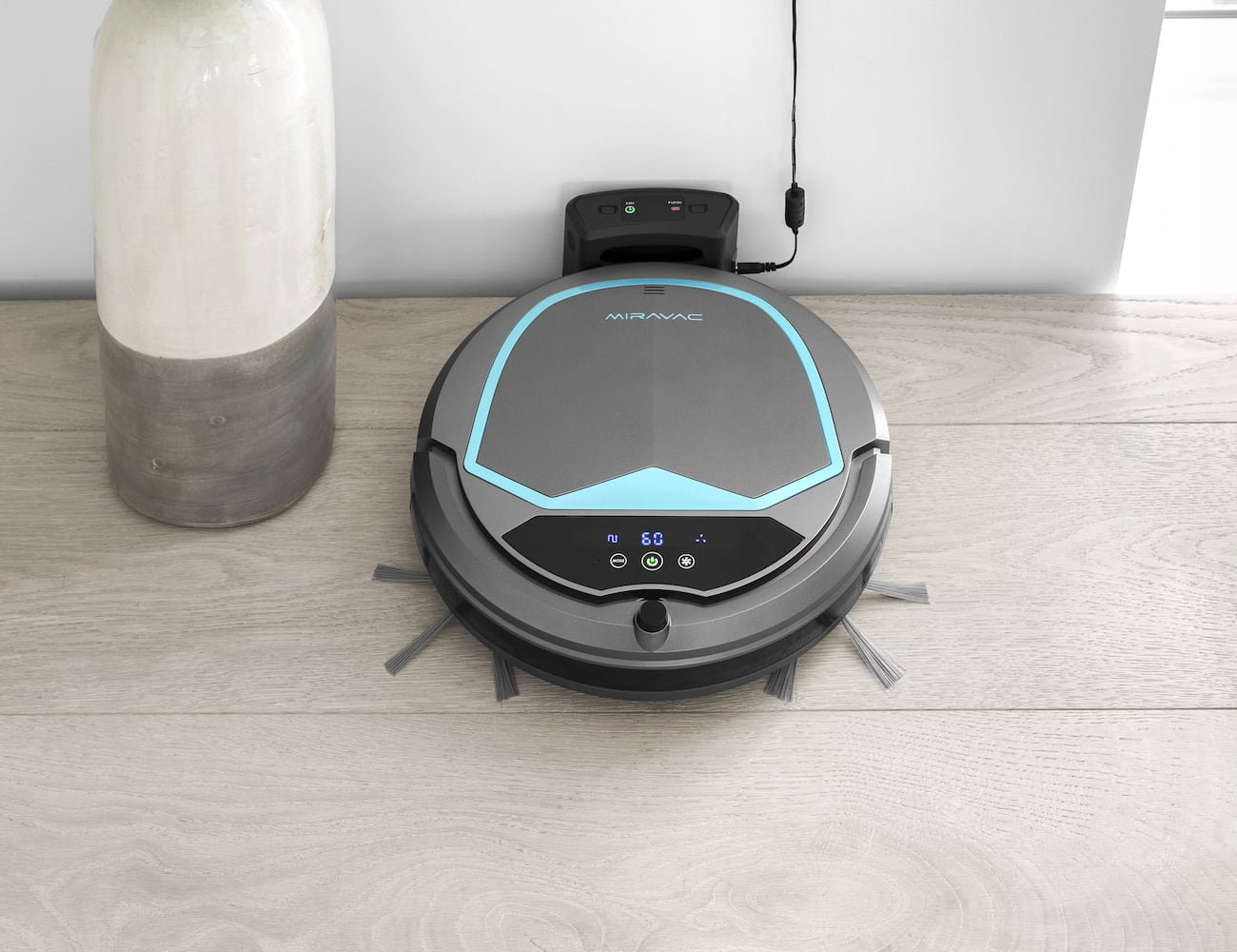 MIRAVAC Robotic Vacuum Cleaner helps you save time on your daily cleaning routine
