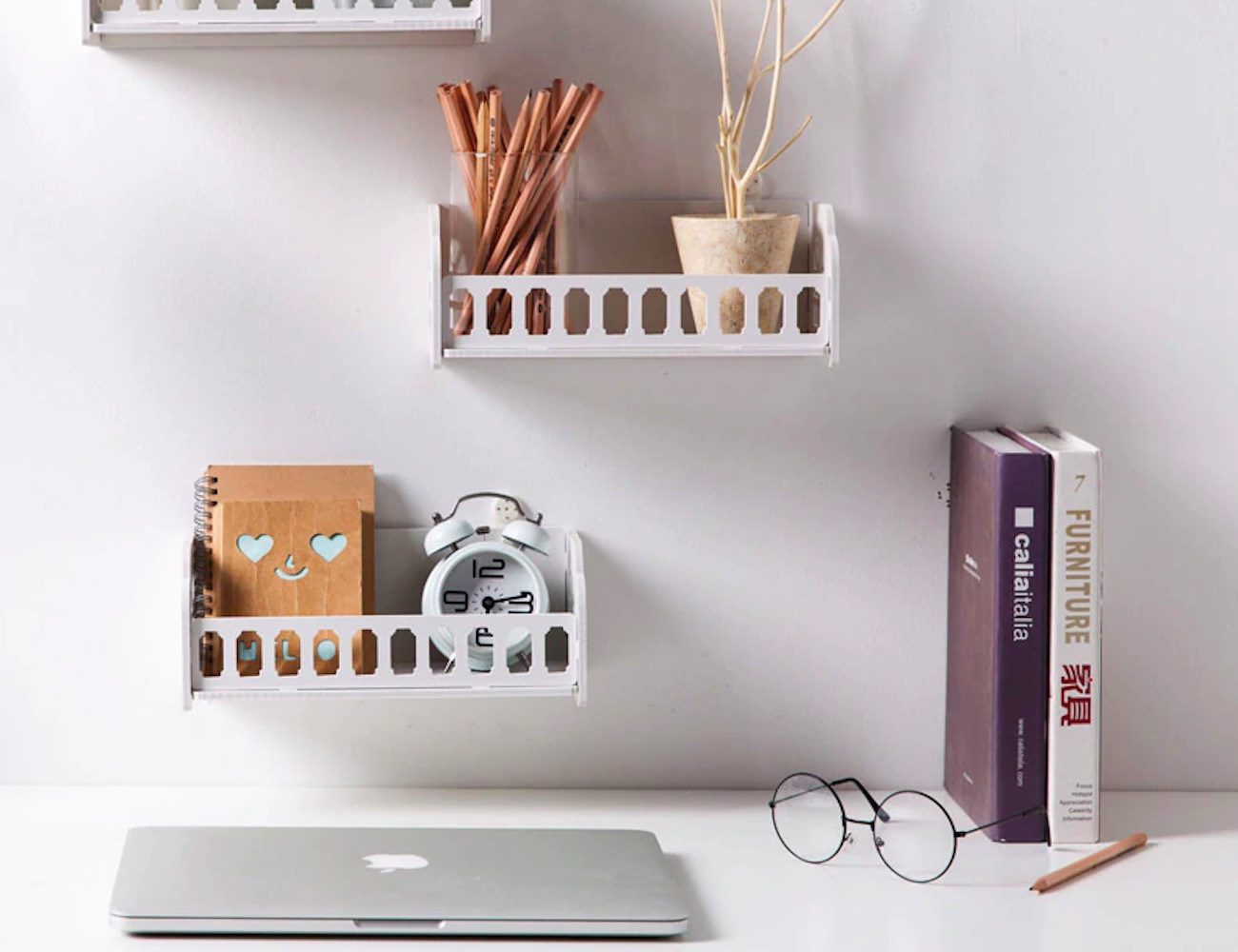 Mountable White Wood Storage Rack keeps your organization on point