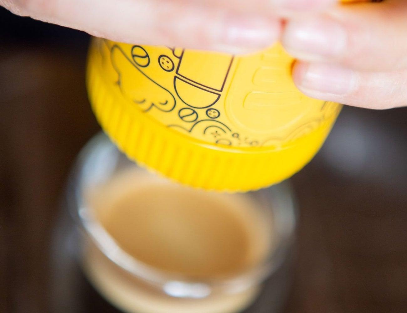 Nanopresso Yellow Tattoo Handheld Portable Espresso Machine gives up to 18 bars of pressure
