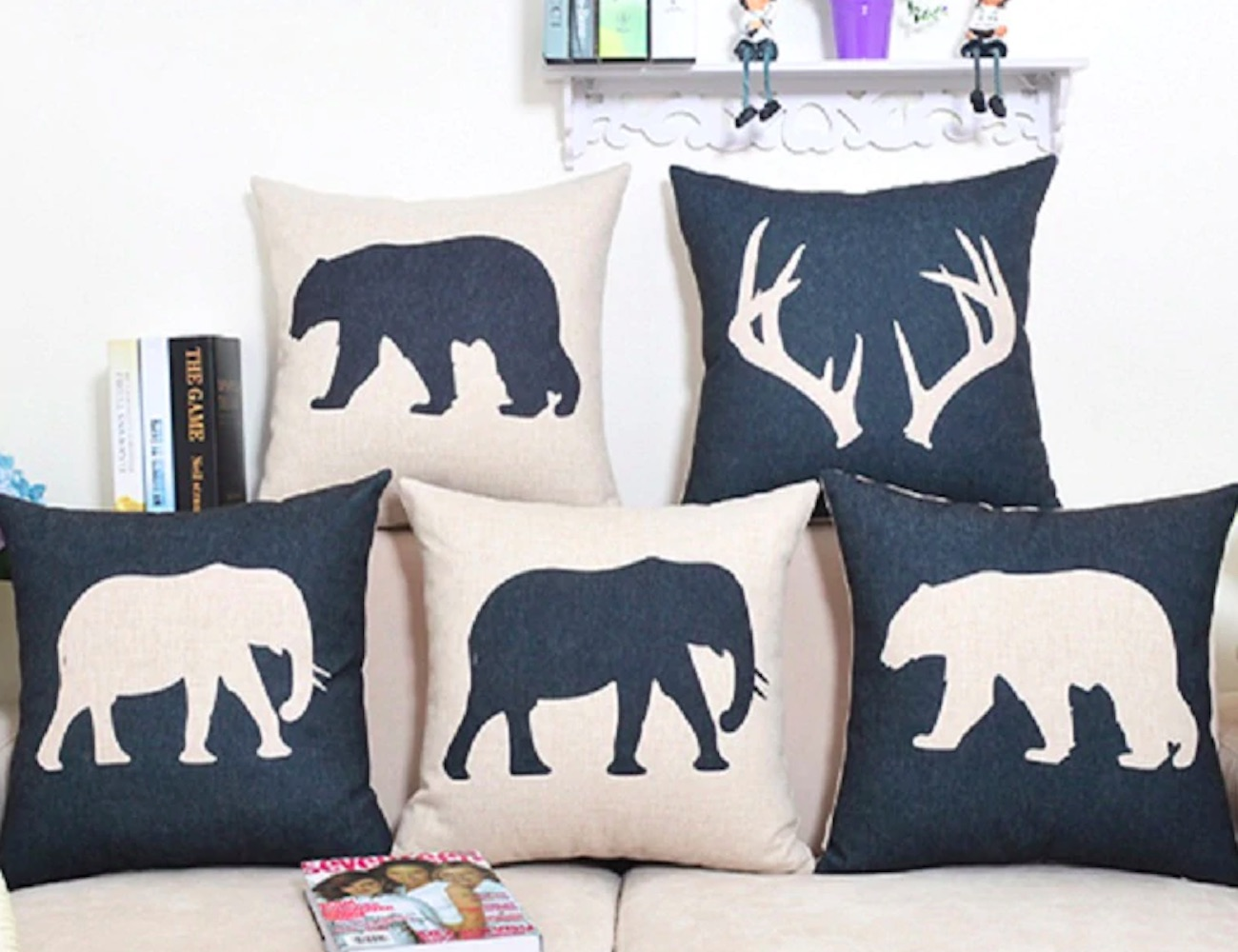 Nordic Animal Pillow Covers bring a bit of the wild inside