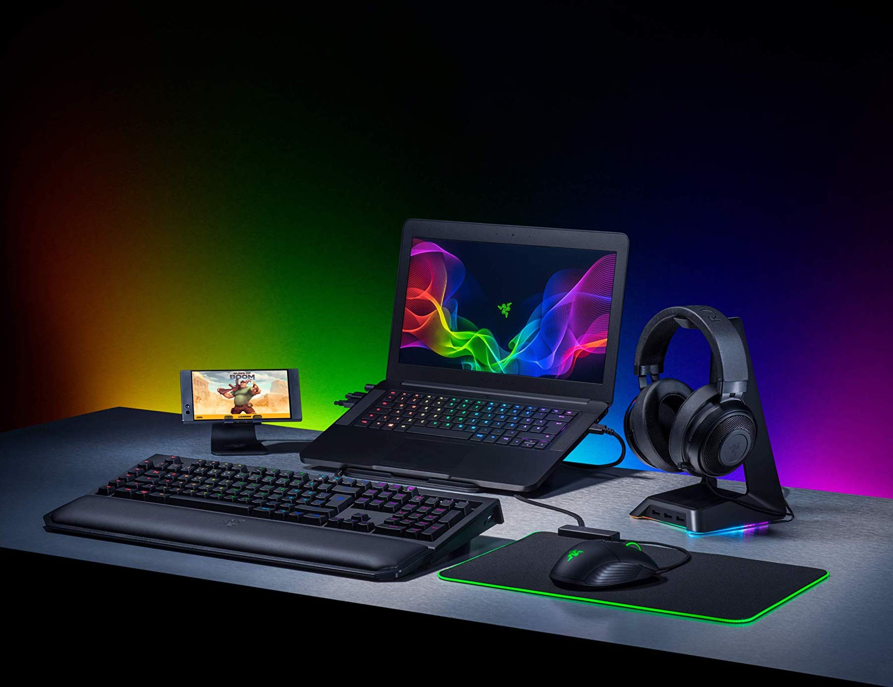 Razer Base Station Chroma USB Headset Desk Stand