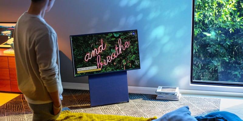 Samsung Sero TV in the Living Room