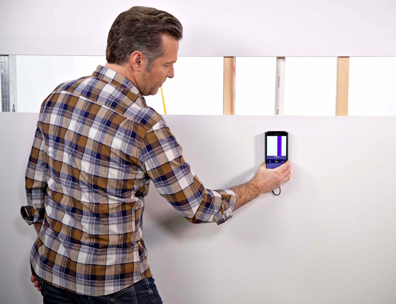 Walabot DIY Plus Wall Interior Scanner shows you studs, pipes, and wires in your wall