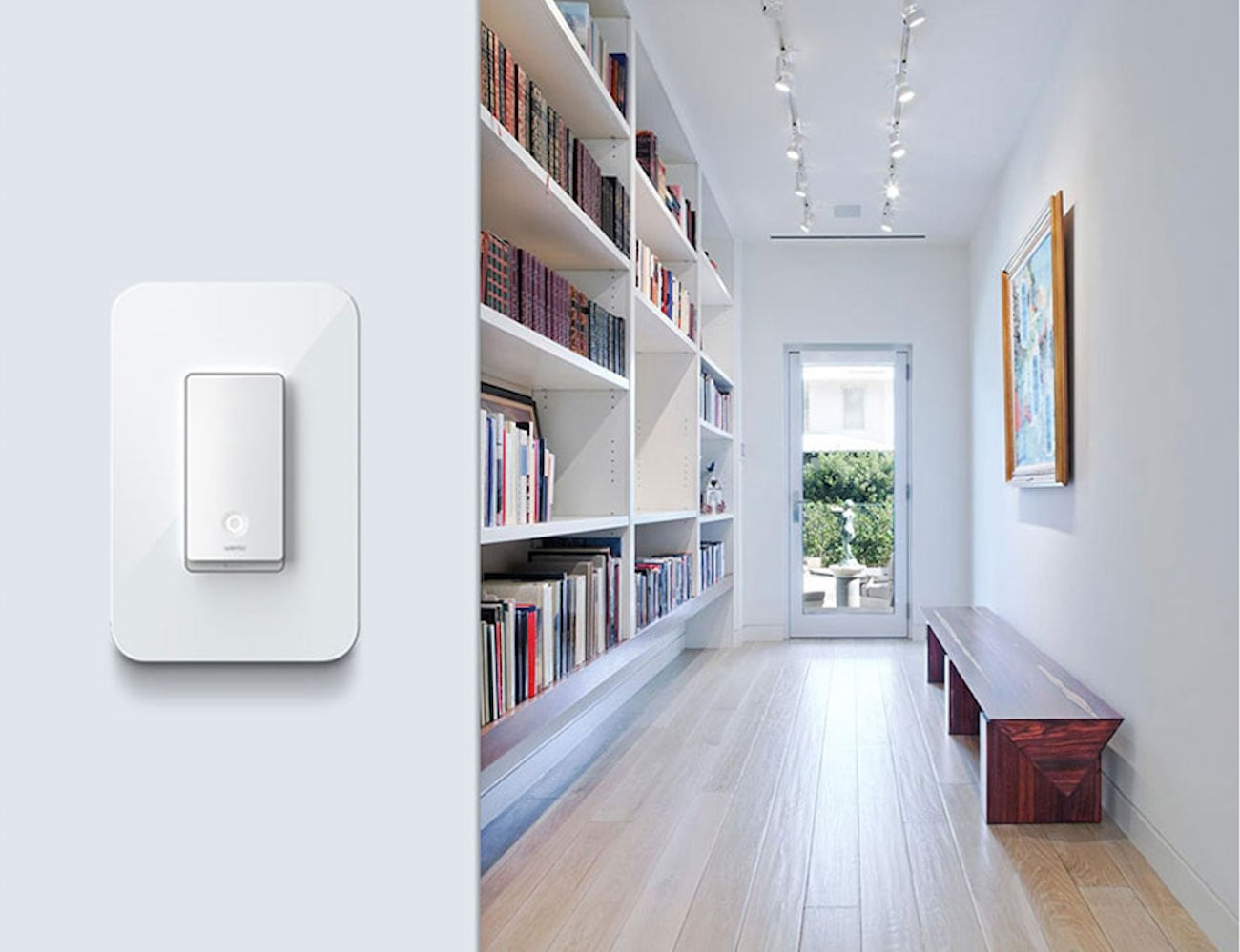 Belkin Wemo Smart Light Switch 3-Way Wi-Fi Switch lets you control your lights with your voice