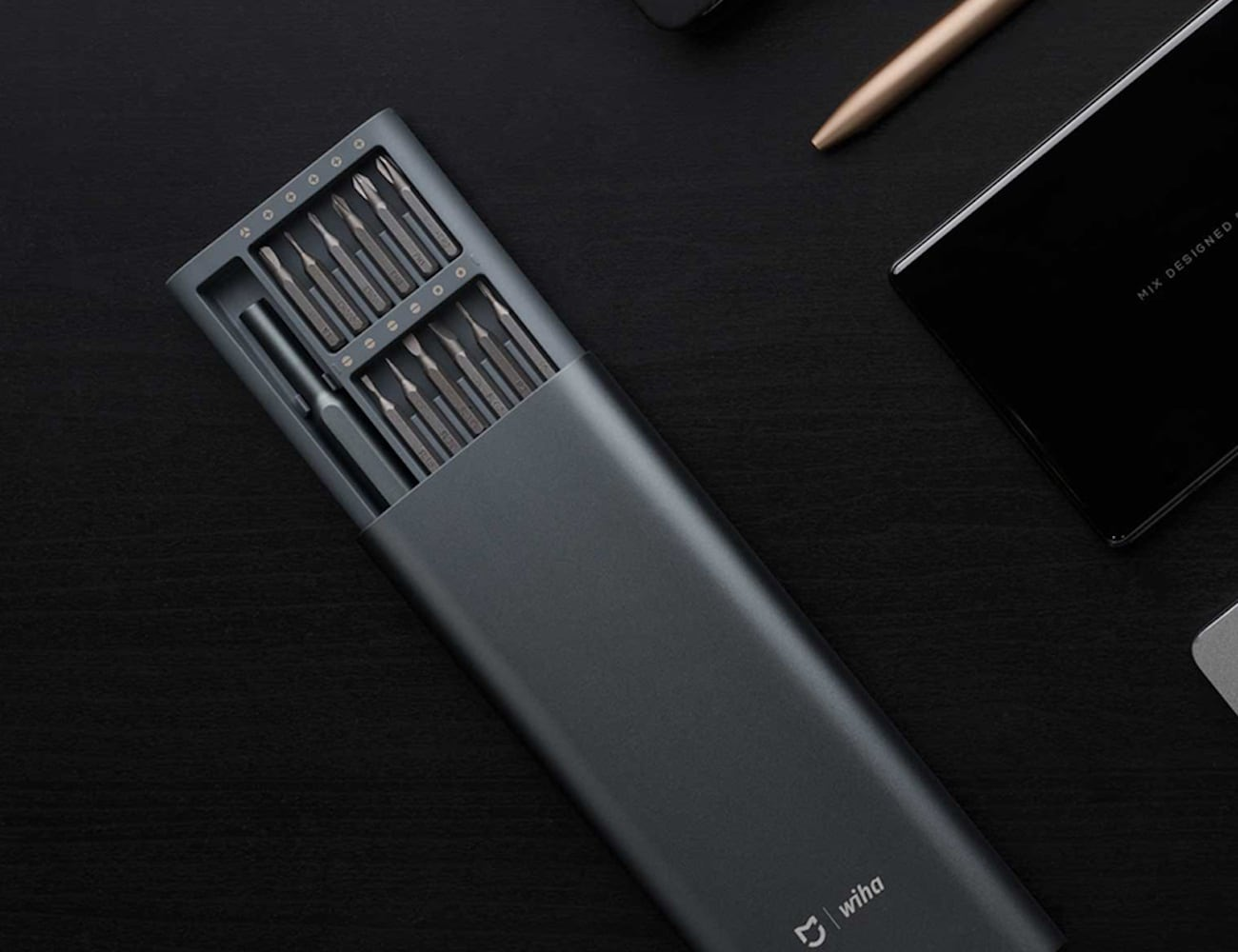 Xiaomi Wiha Precision Screwdriver Set has 24 magnetic bits for accuracy