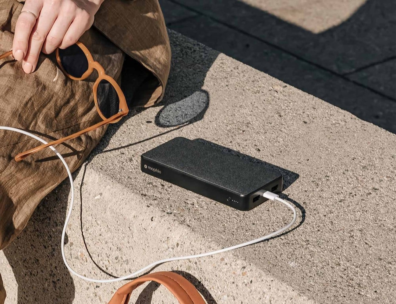 mophie powerstation mini 5,000mAh Fabric Portable Battery is a stylish pocket-sized charger
