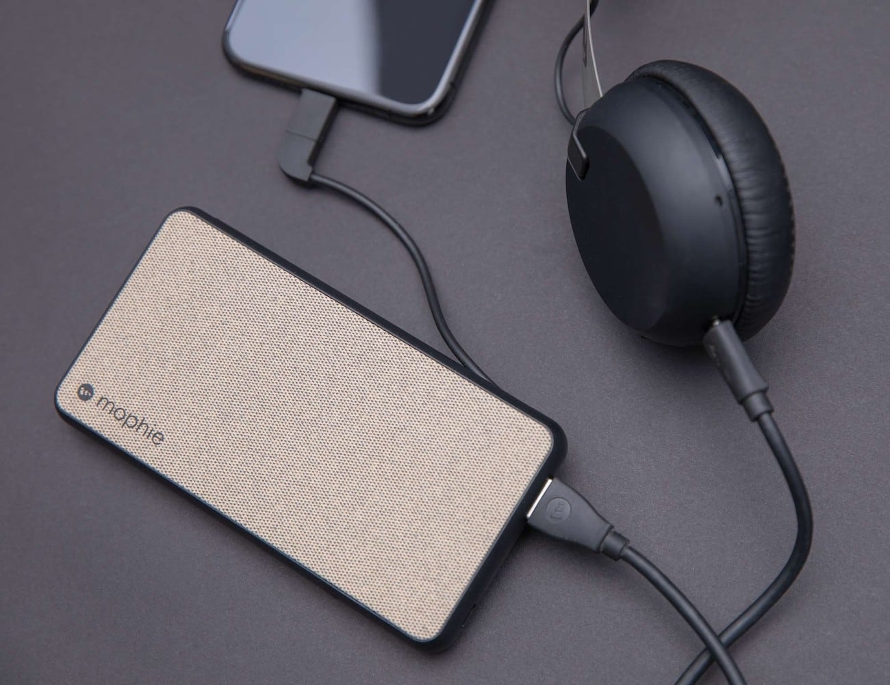 mophie powerstation plus XL Fabric Power Bank has a 10,000 mAh on-the-go battery