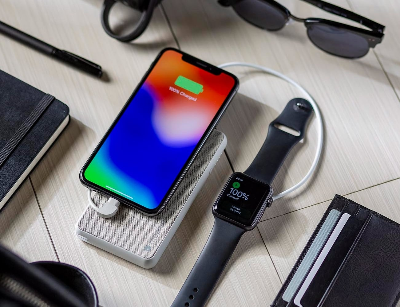 big sale 3891c 23ec5 mophie powerstation plus with Lightning connector Power Bank provides 6,040  mAh of battery power