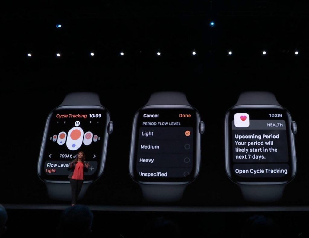 cycle tracker watchos