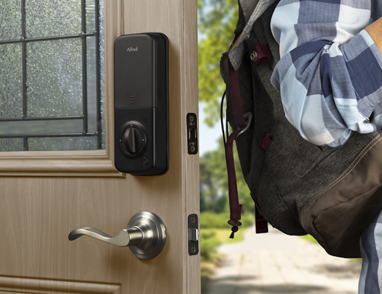 Alfred Smart Touchscreen Home Deadbolt ensures you know who's coming and going