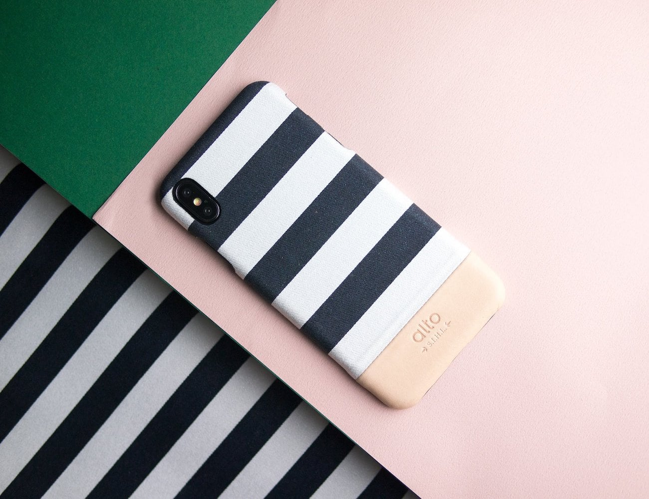 Alto Denim Leather Case iPhone XS Max Collection offers chic protection for your smartphone