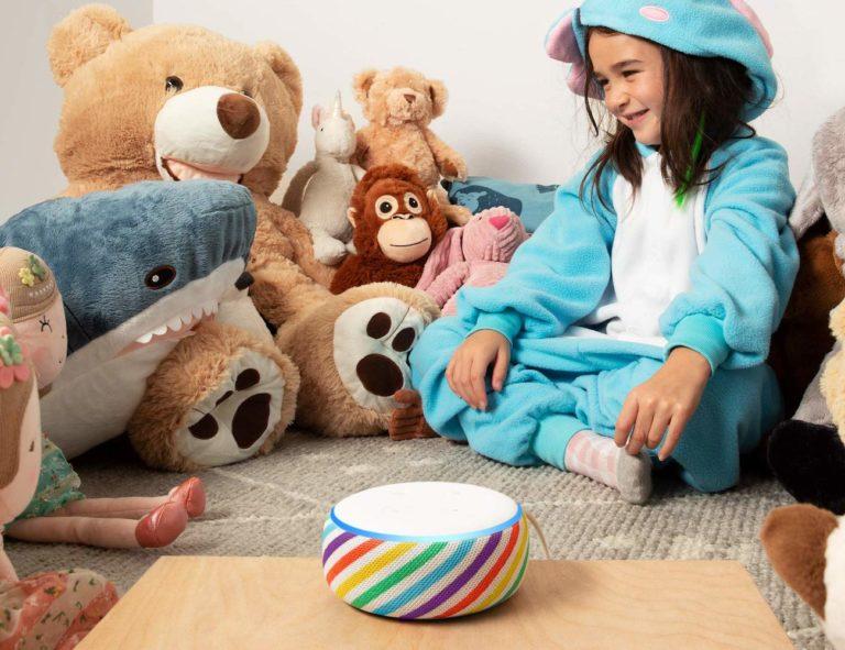 Amazon+Echo+Dot+Kids+Edition+Rainbow+Smart+Speaker+reads+your+child+bedtime+stories