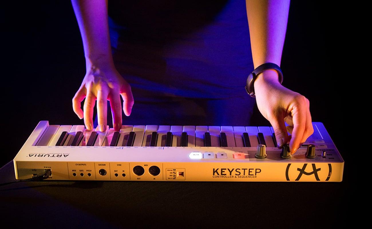 Arturia KeyStep Portable Keyboard controls analog and digital devices
