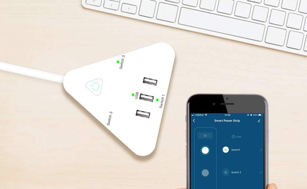 Aviator Controls Smart Power Strip Wi-Fi Smart Plug can be controlled with your voice
