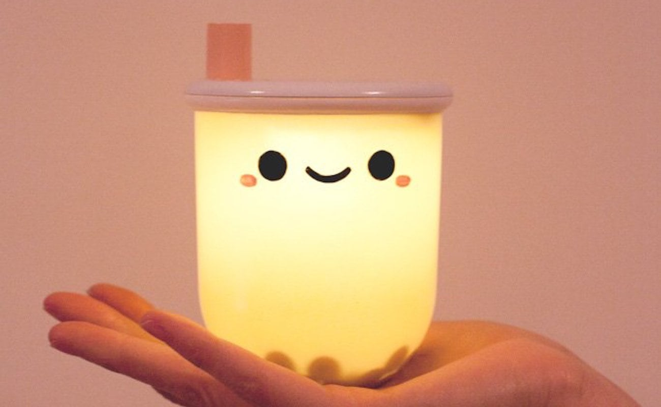 Boba Tea Light Ambient Nightlight is the cutest way to light up your nightstand