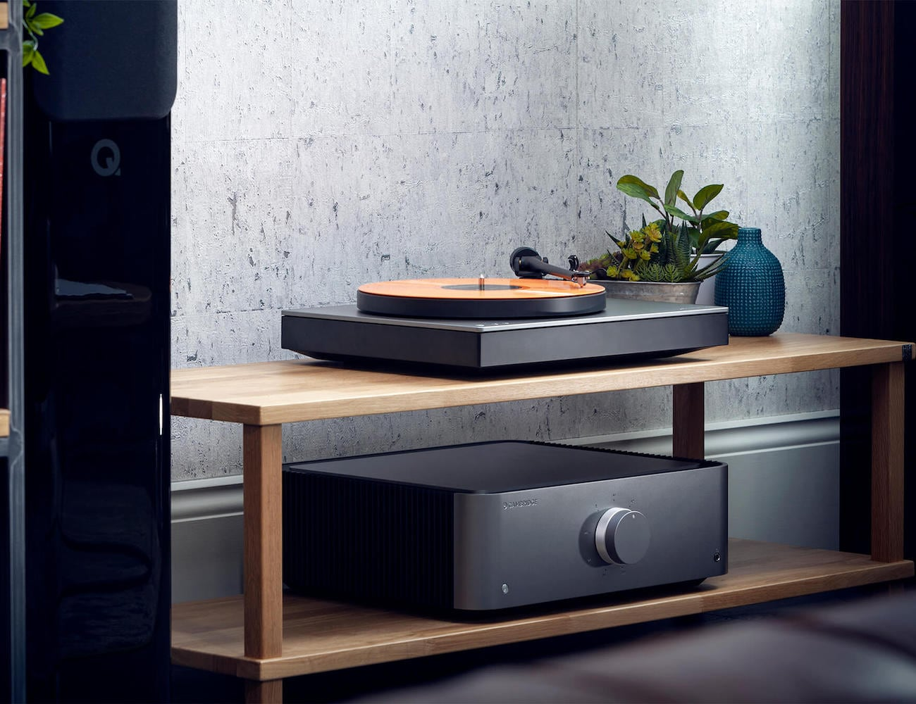Cambridge Audio Alva TT Bluetooth Direct Drive Turntable offers a completely wireless vinyl experience